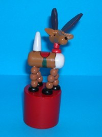 Reindeer - Small - Red Saddle - Red Base