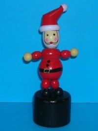 Santa - Father Christmas - Red Hat - Black Base
