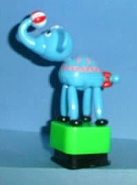 Elephant - Circus - Plastic - Green Base
