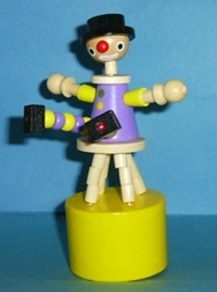 Clown - Stool - Purple Suit - Yellow Base