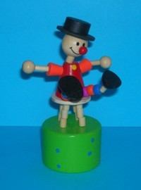 Clown - Black Hat - Stool - Green Base Blue Spots