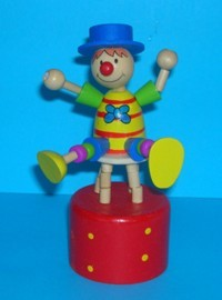 Clown - Blue Hat - Stool - Red Base Yellow Spots