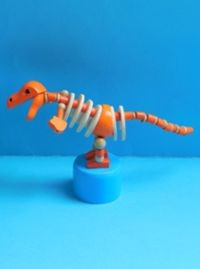 Dinosaur - Orange - Blue Base