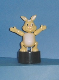 Bunny - Plastic -Yellow - Black Oval Base