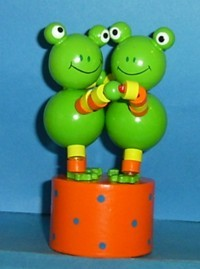 Frogs - Double Dancing Push Puppet