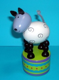 Sheep - Grey face - Black Legs -Decorated Base
